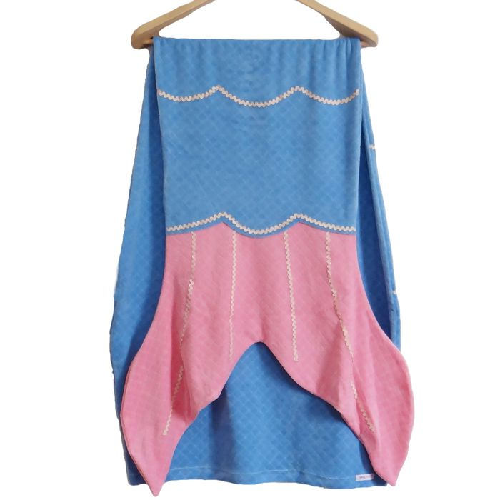 Cobertor-de-Sereia-de-Plush-Azul